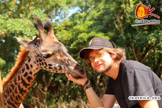 Kirill and giraffe