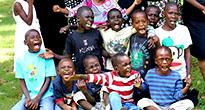 Дети из приюта в Африке